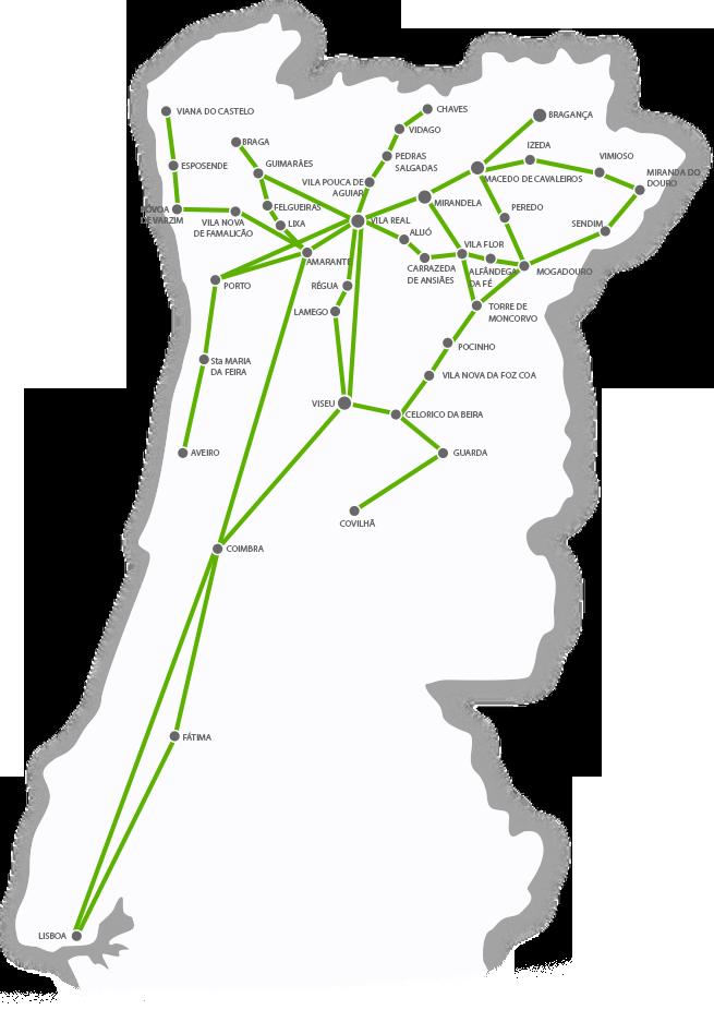 izeda mapa Network map   Rodonorte izeda mapa